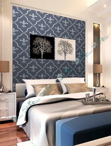名称:卧室背景墙-壁纸花38 说明