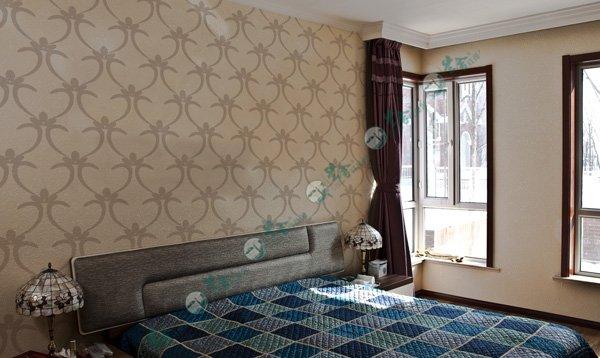 名称:卧室背景墙-壁纸花40 说明